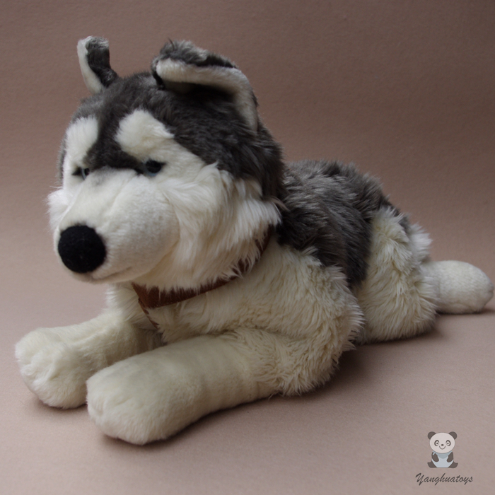 купить Plush Stuffed Animals Toy Husky  Large Dolls  Kids Toys Gifts Pillow Simulation Alaskan Sled Dogs Doll по цене 3807.84 рублей