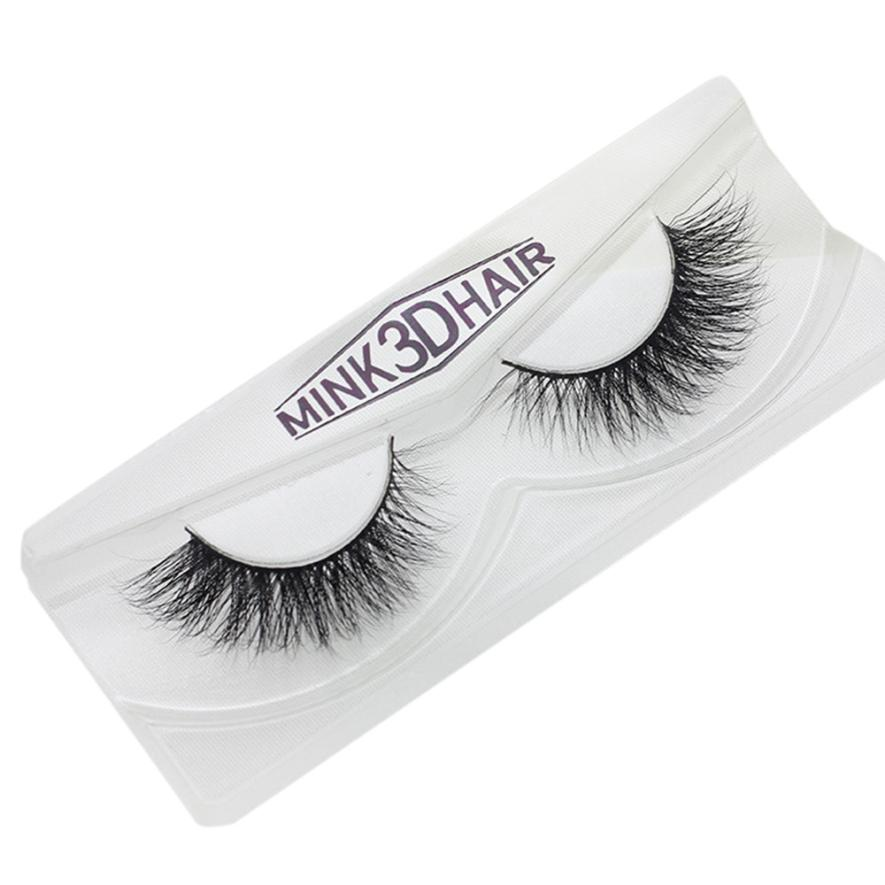Real 3d Mink Soft Long Natural Eye Lashes Makeup Thick False Eyelash Extension Wimpernverlangerung 3d Mink Eyelashes Pestanas Modern And Elegant In Fashion Beauty & Health