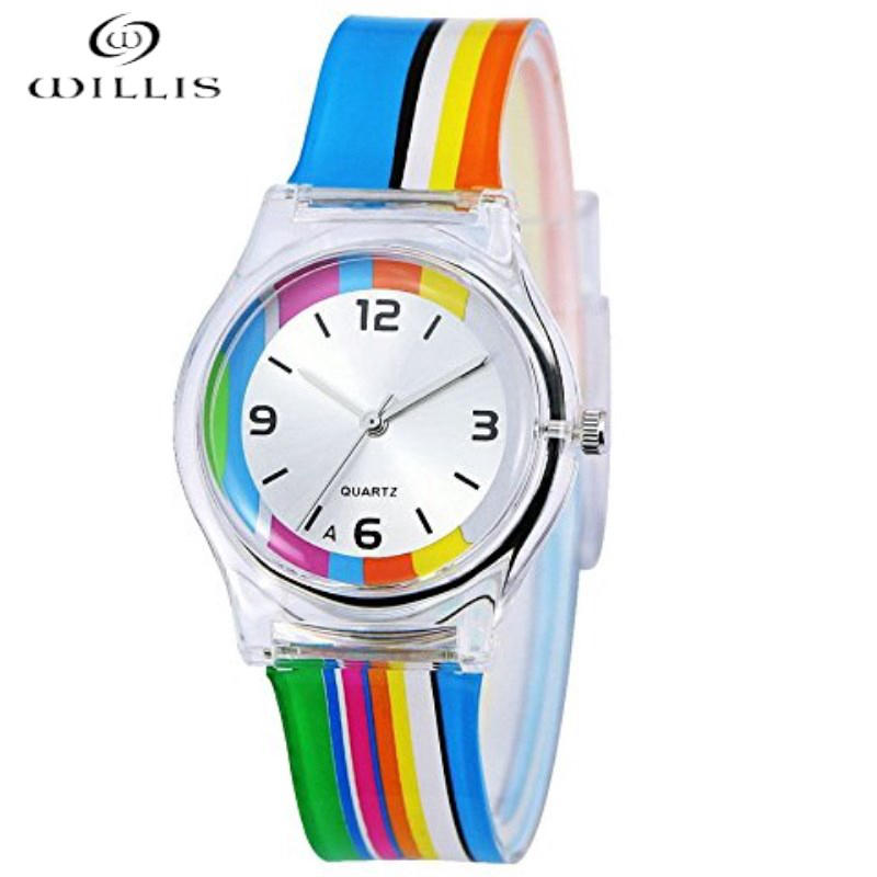 WILLIS Brand Design Quartz Watch Women For Children Boys Girls Sport Watches Gift Silicone Band waterproof Relogio Masculino kids watches children silicone wristwatches doraemon brand quartz wrist watch baby for girls boys fashion casual reloj