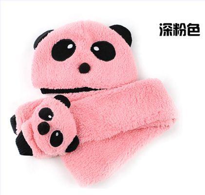 Розничная, комплект из шапки и шарфа для малышей, шерстяная шапка и шарф для малышей, зимняя детская шапка, вязаные шапки со звездой, вязаная шапка для детей - Цвет: pink