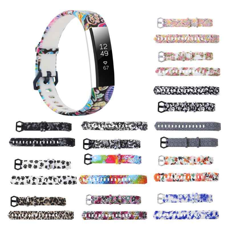 Colorful Soft Silicone Watch Bands Bracelet Replacement Accessories Wristband Strap For FitBit Alta/Alta HR Ftness Tracker