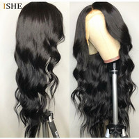Transparent Full Lace Human Hair Wigs Preplucked With Baby Hair Natural Wave Wavy Remy Glueless Full Lace Wig For Women Black