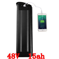 Bottom Discharge 48V Lithium Battery 750W 48V 15AH Electric Bicycle Battery With Slim Aluminium Case 54