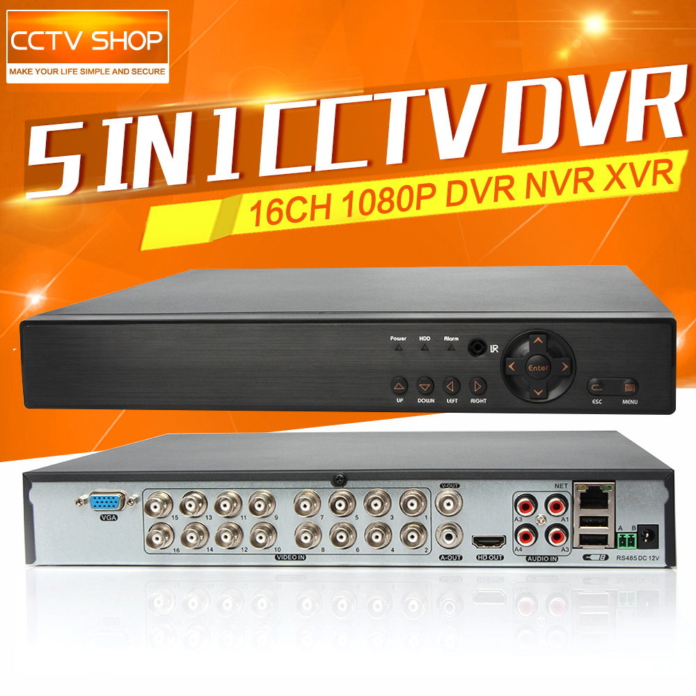 5 IN 1 AHD CVI TVI CVBS NVR 16Ch 1080P Security DVR NVR XVR 8Ch 3MP 4Ch 5MP Hybrid DVR Video Recorder Onvif Max 8TB HDD P2P View security 4ch ahd m dvr 8ch realtime 1080p nvr video recorder multi mode