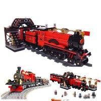 Harri Potter Magic Hogwarts Express Train Blocks Bricks Compatible With legoing 75955 Building Model Christmas Gift Assembled