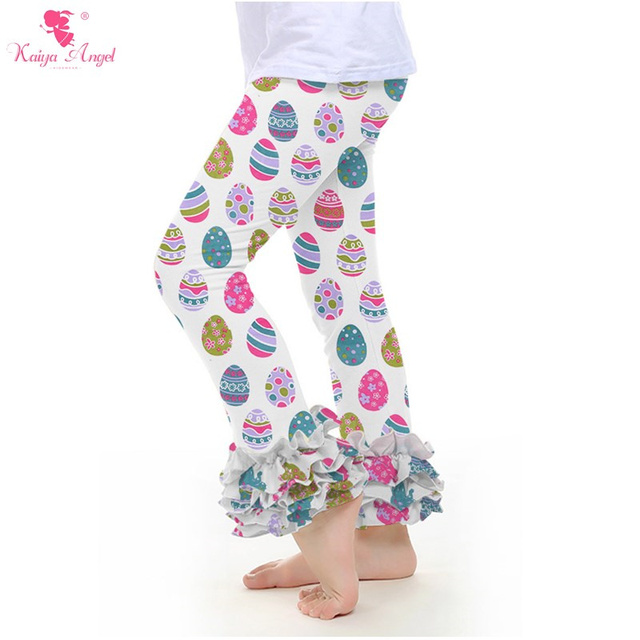 32da0634bca737 2017 Girls Leggings Wholesale Baby Boutique Clothing Kids Ruffle Pants Pink Leggings  Christmas Leggings Girls Kids Leggings 2-8T