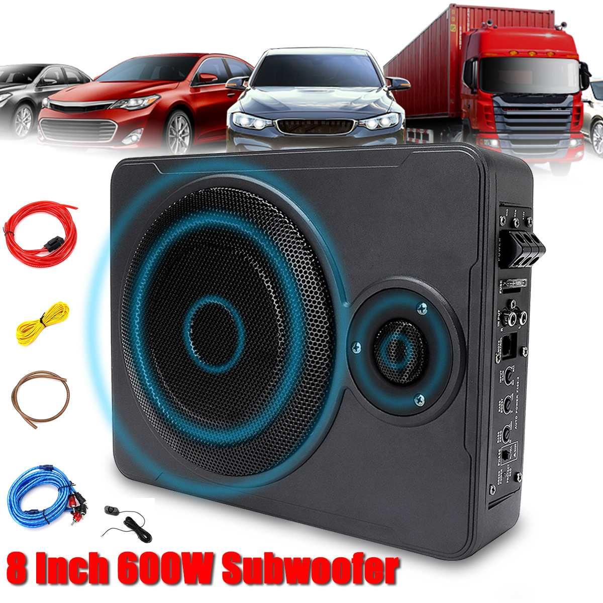 8 pouces 600W voiture maison Subwoofer sous siège sous siège sous caisson de basses voiture haut-parleur système de musique son voiture caissons de basses haut-parleur