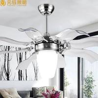 Современные краткое немой большой 52 дюйм(ов) Акрил светодиодный потолочный вентилятор Лампы для мотоциклов Для Гостиная номер AC 80 265 В 1051