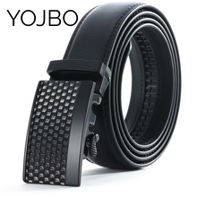 Здесь можно купить  YOJBO Classic Cowskin leather belt men 2017 Automatic Buckle Mens Belts Luxury for Jeans Designer Brand High Quality Straps Male  Apparel Accessories