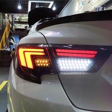 Kiểu Dáng Xe Dành Cho Xe Toyota Reiz Họa Tiết Rằn Ri Nét Ta 016RAR Hội 2013 2019 Đánh Dấu X Đèn LED Dây Tóc Đèn Sau Tất Cả Các Đèn LED Âm Trần Dạng Tấm Mỏng