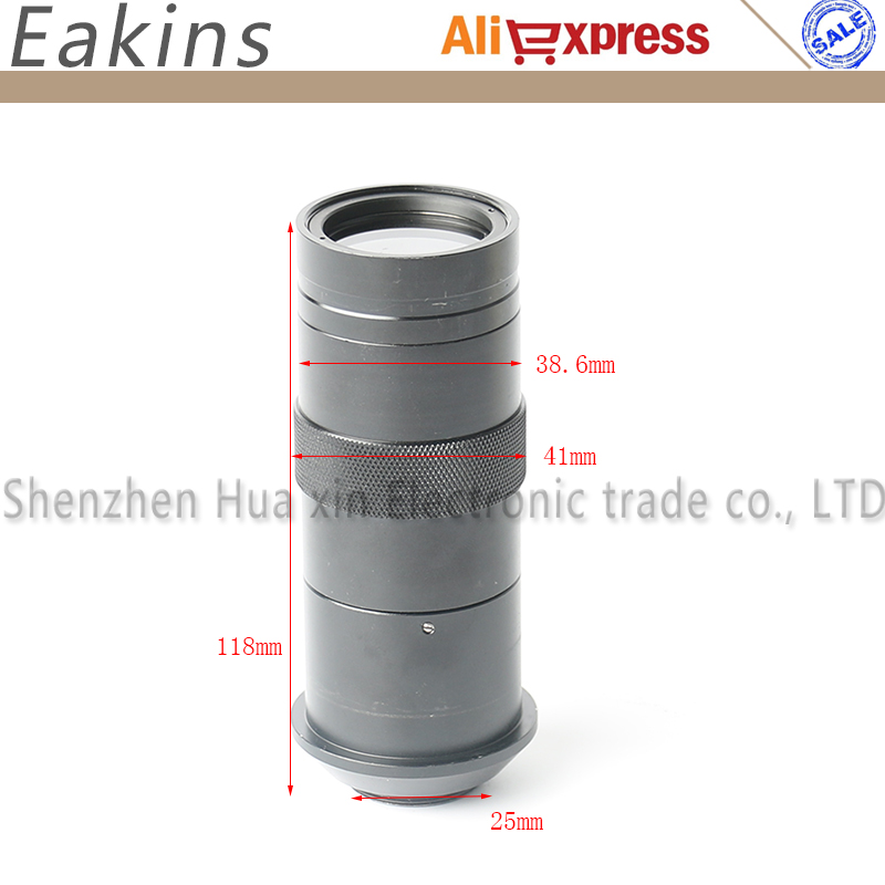 CCD industrie mikroskop kamera c-mount-objektiv glas 8X-100X Kamera Lupe Vergrößerung Einstellbar 25mm Zoom Sucherlupe