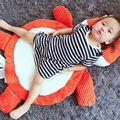 95*55 CENTÍMETROS Macio Elefante/Fox Forma Esteira Do Jogo Do Bebê Encantador Dos Desenhos Animados de Pelúcia Tapete Infantil/Tapete