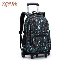 Latest Removable Children School Bag With 3 Wheels Stairs Kids Boys Girls Trolley Schoolbag Luggage Book Bags Backpack kids boys girls trolley schoolbag luggage book bags backpack latest removable children school bags with 2 wheels stairs