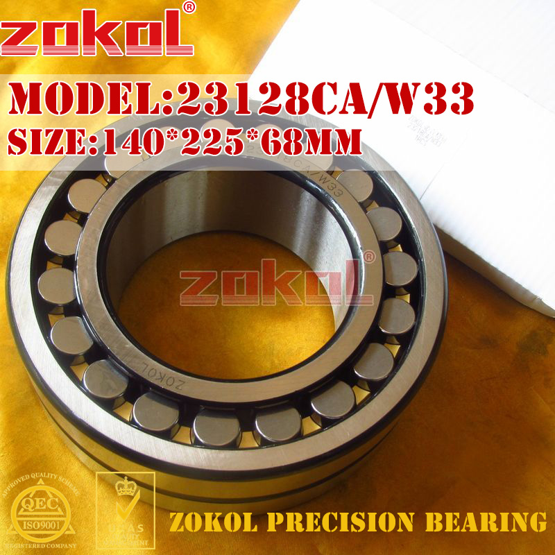 ZOKOL bearing 23128CA W33 23128CA/W33 Spherical Roller bearing 3053728HK self-aligning roller bearing 140*225*68mm mochu 22213 22213ca 22213ca w33 65x120x31 53513 53513hk spherical roller bearings self aligning cylindrical bore