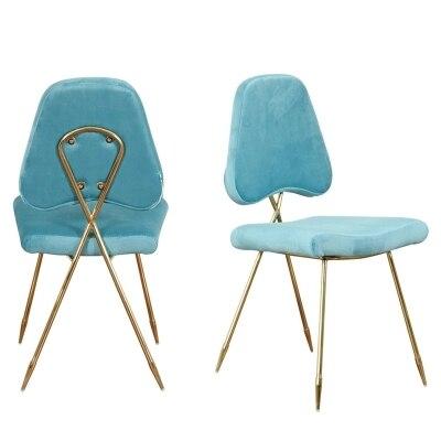 Скандинавский современный минималистский ресторане стул современный туалетный стул Золотой встречая стул