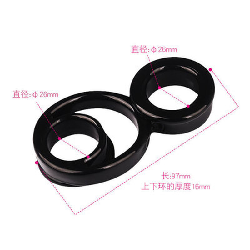 Double bunches precision locking rings male penile rings couples sharing sex toys adult sex toys in Penis Rings from Beauty Health
