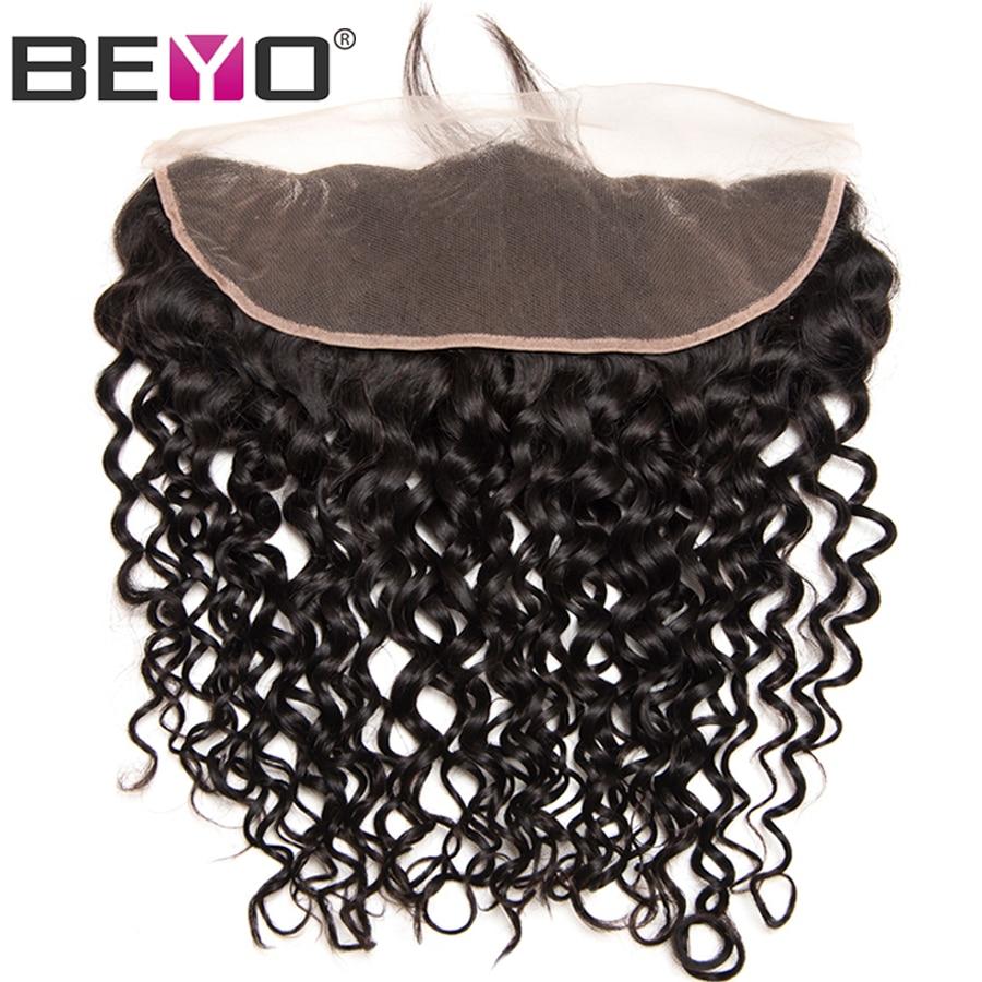 Beyo pré-pincé dentelle frontale fermeture vague brésilienne vague - Cheveux humains (noir) - Photo 2