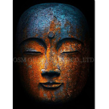 Top Artist Handmade High Quality Modern Abstract Buddha Picture for Wall Art Handmade Single Buddha Portrait Oil Painting