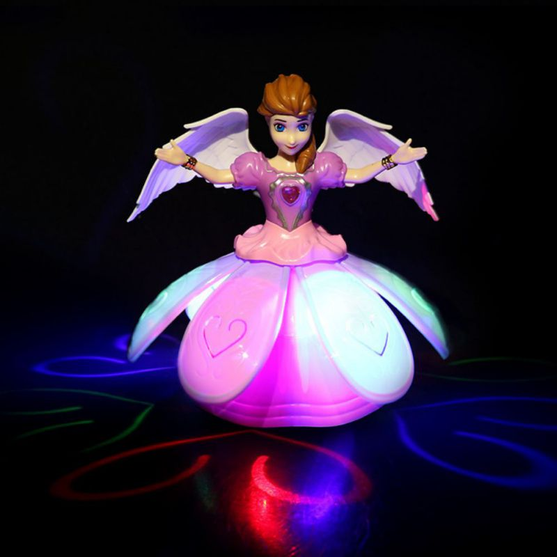 New Girls Toy Dancing Princess Toy Flash Music Educational Toys Electric Rotating Toys