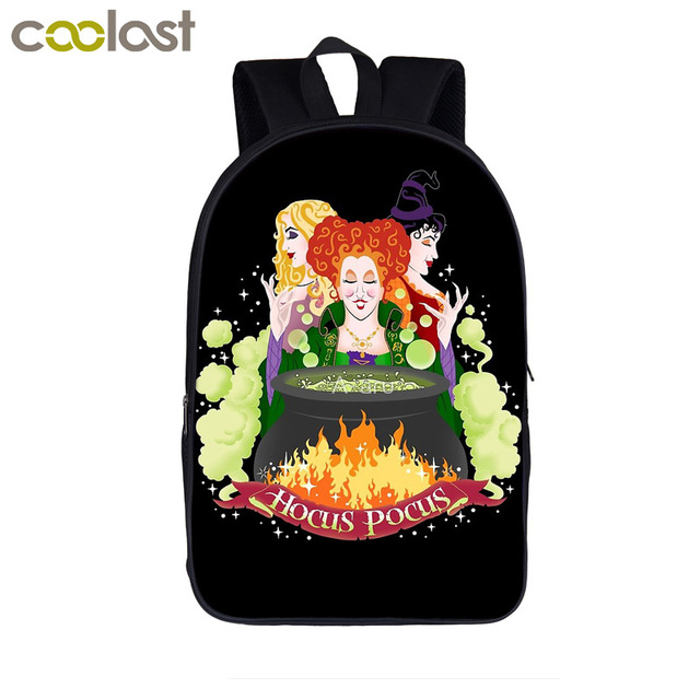 hocus pocus letter / witch woodoo print backpack for