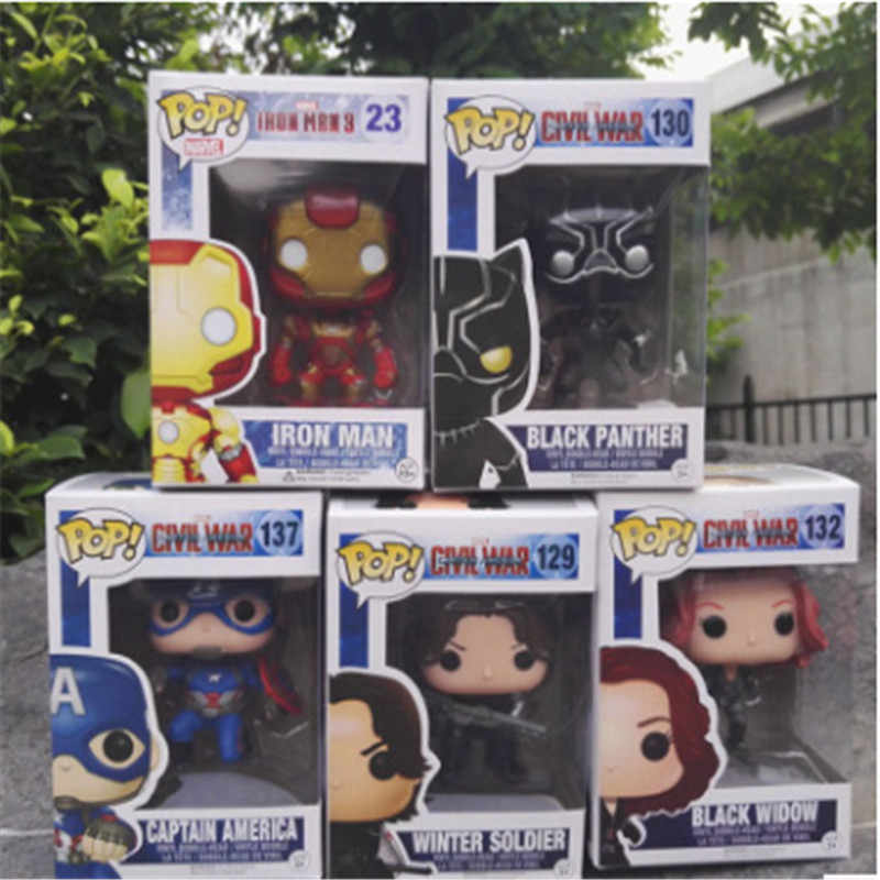 Funko Pop Movie-Captain America 3-Black Widow Winter Soldier Action Figure Giocattoli per Regalo di Compleanno Amico Collezione per il Modello