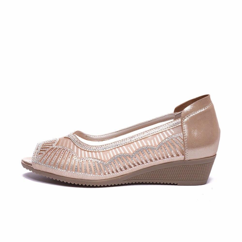Mère Ouvert Noir Taille Cuir Pour Gktinoo 41 Sandales En Chaussures NXP8kn0wO