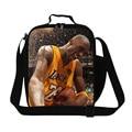 Caliente la estrella del baloncesto Kobe bolso del almuerzo térmica para niños de la escuela escolar para adultos trabajo James impresión envase del almuerzo por la comida