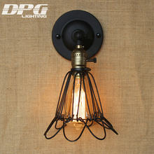 Wall Industrial Lamp Lighting Country Vintage Led Loft Antique long lights American Classic Sconce for Home Indoor(China)