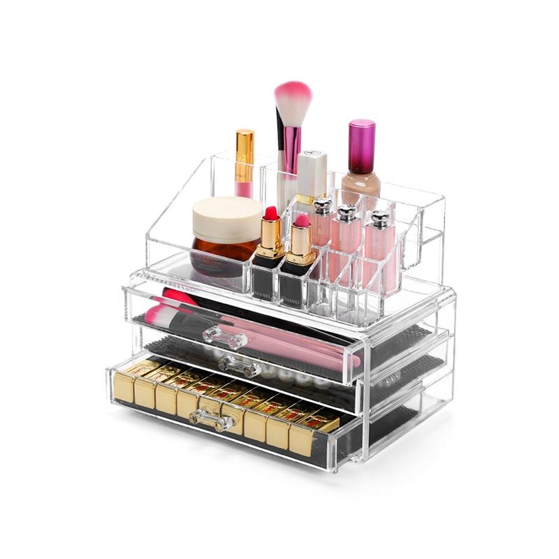 AF Acryl Make Up Veranstalter Aufbewahrungsbox Kosmetik Organizador ...