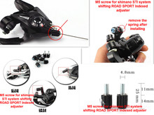 1pc Bicycle Brake Road Bike M5 Down Tube INDEX Barrel CABLE Adjuster Cable Tension Barrel Adjuster screw the rear derailleur