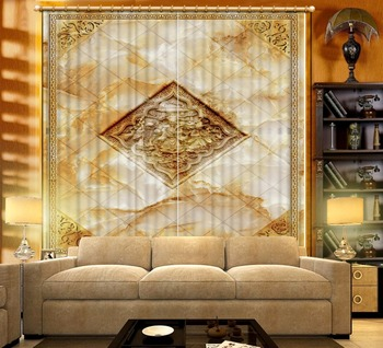 customize modern living room curtains Marble window curtain bed room luxury european curtains