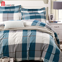 100 Cotton Stripe Duvet Cover Fitted Sheet Mattress Cover Pillowcase 4pcs Complete Bedding Sets Twin Full