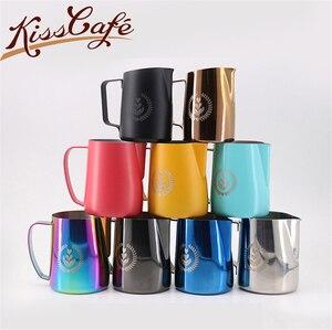 Image 1 - 1pcStainless Acciaio Inox Schiumare Brocca Tirare Fiore Tazza di Latte Brocca di Latte di Caffè Tazza di Latte Montalatte Espresso Schiuma Strumento Coffeware