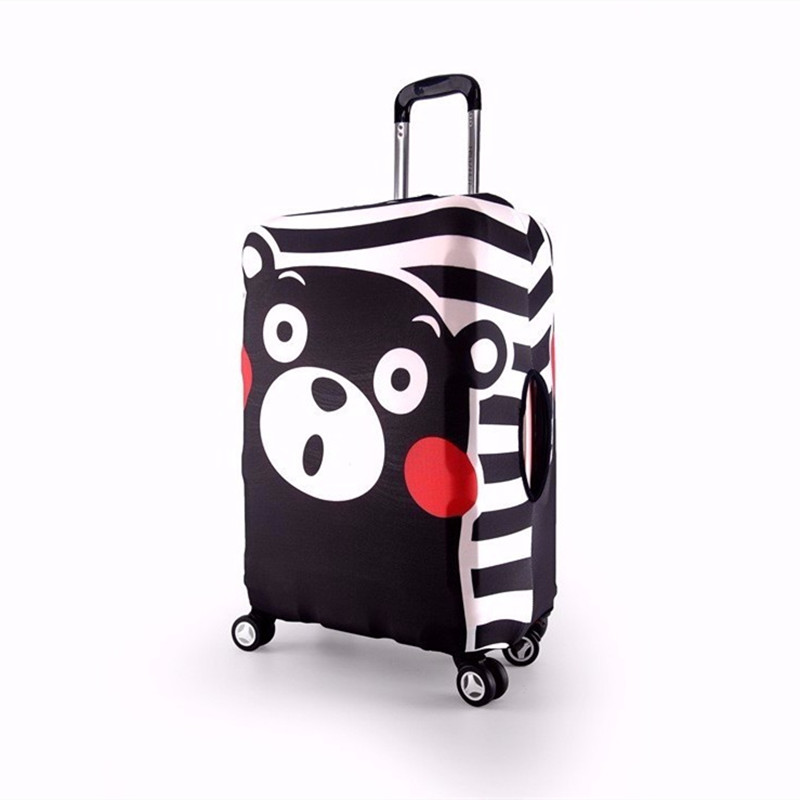 Cute Bear Luggage Protective Cover Trolley Suitcase Dust Waterproof Bag Case Cartoon Travel Accessories Supplies Products