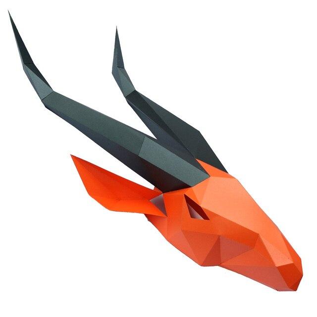 מסכת ראש אוריגמי - אנטילופה ארוך 2
