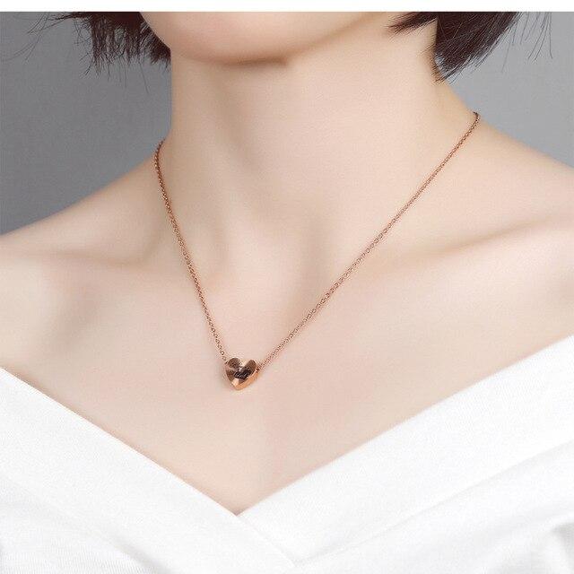 модные ожерелья золотого цвета в форме сердца для женщин с подвесками фотография