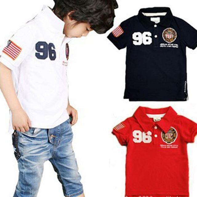 Novo 2016 do bebê verão T-shirt roupas para criança menino crianças roupas de manga curta crianças camisetas 2-9 anos de idade 1599