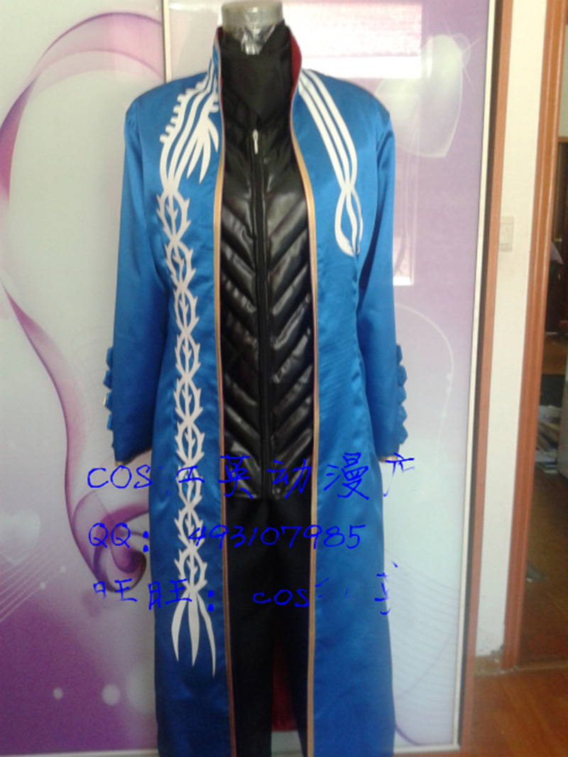 Devil May Cry 3 Vergil Cosplay Costume Halloween Costumes Any Size