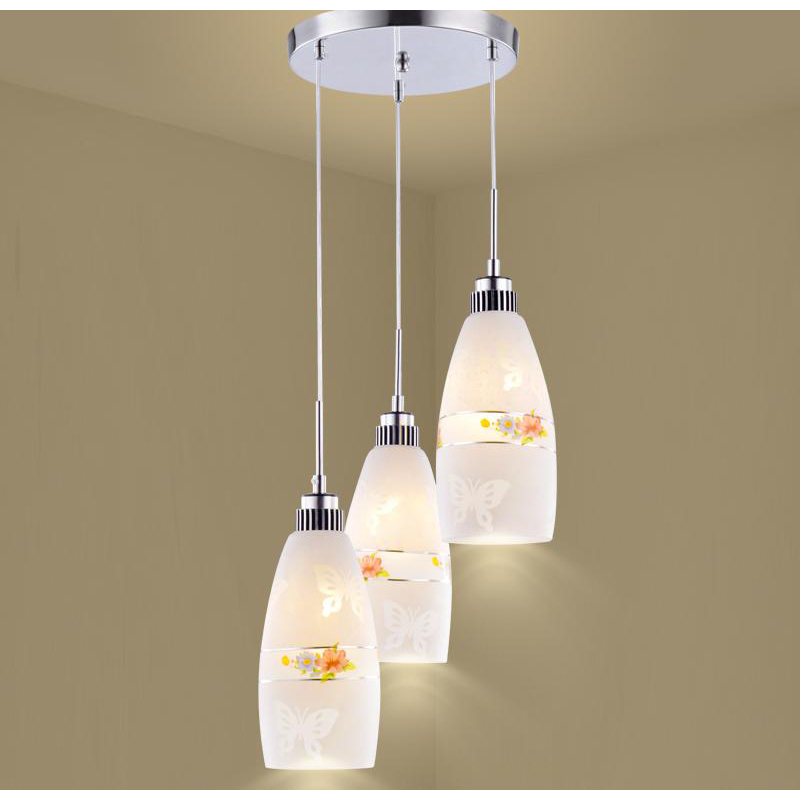 Restaurant lights pendant light 1/3heads creative modern simple LED dining room lighting pendant lamps ZA811 LU1020 rectangular dining room pendant lights european style led crystal pendant lights modern restaurant lamp bar cafe creative lamps