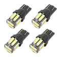 4PCS T10 10-7020 SMD LED W5W 194 168 2825 T10 Wedge Replacement Reverse T10 White Bulbs For Signal Trunk Dashboard Parking Lamp