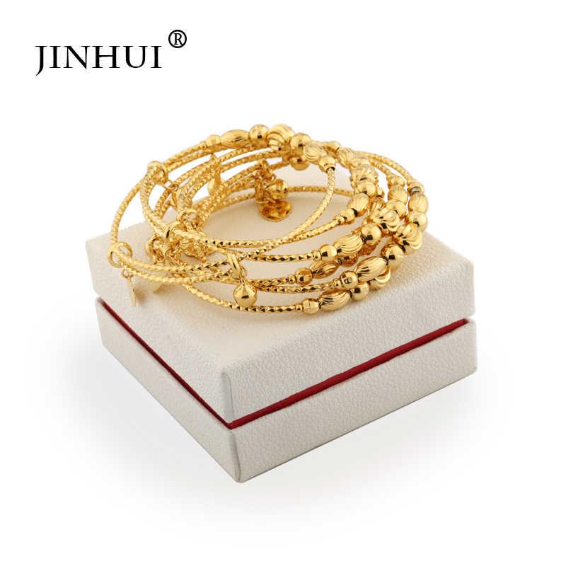 Jin Hui แอฟริกันเอธิโอเปียแฟชั่นสี Bell กำไลเครื่องประดับงานแต่งงานของขวัญยืดฟรีขนาด 2 มม.
