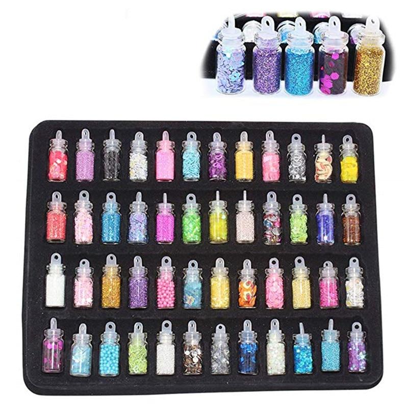 12~48Pcs Lizun DIY Slimes Accessories Kit Glitter Filler Charms for Fluffy Slime Anti Stress Sludge Toy Plasticine Kids Gift