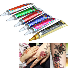 Temporary Tattoo Henna Paste 6 Colors
