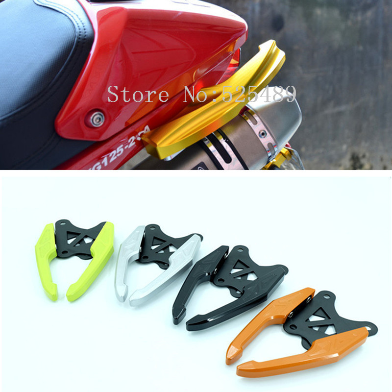 2x CNC Aluminum Motorcycle Rear Passenger Grab Bars Rear Seat Pillion Grab Rail Handle Accessories For Honda Grom MSX125 / M3 hot sale motorcycle leather passenger pillion rear seat for ktm 390 duke black red orange