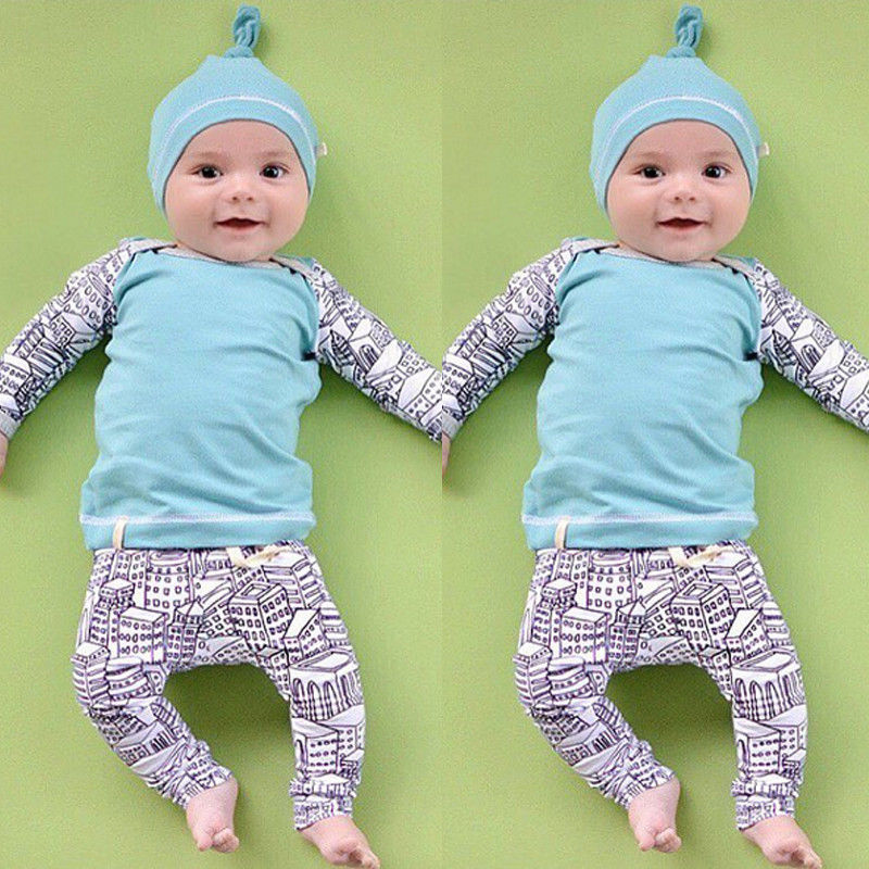 f5a6cbf1d08 Baby Boy Autumn Clothes Girl New born Infant T-Shirt Hat Trousers Outfits  Children 3pcs Clothing Set