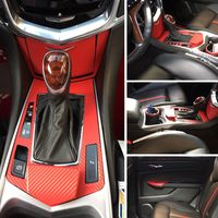 For Cadillac SRX Interior Central Control Panel Door Handle 3D/5D Carbon Fiber Stickers Decals Car styling Accessorie