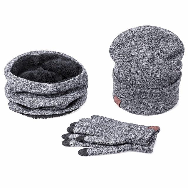 7703fda44ff2be IWINTER Winter Hats For Women Winter Hat Scarf Warm Scarf Hat Gloves Set  For Women Female