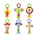 Bebé niños juguetes de dibujos animados de animales de peluche de juguete campana de mano cochecito de bebé cuna colgando sonajeros de bebé juguetes regalos 35%