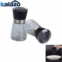 Køkken Glass Maling Flasker Salt Peber Mill Grinder Glas Peber Grinders Shaker Spice Container Condiment Jar Holder