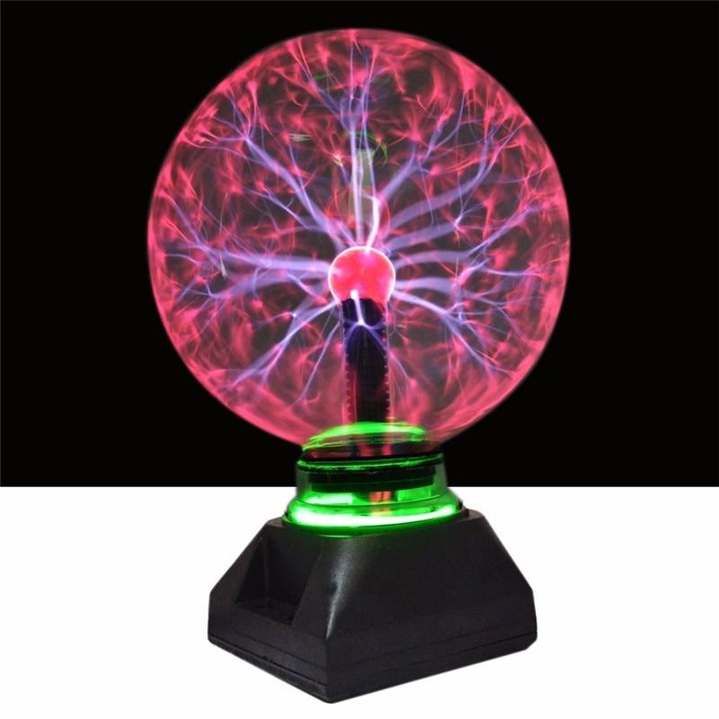 Xmas4 5 6 8 Inch Plasma Ball Glass Light Crystal Light Plasma Ball Lamp For Christmas Home Decoration Lighting Kids Gifts